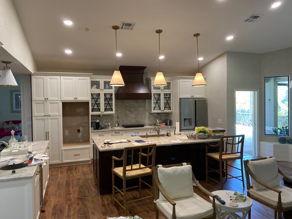 Palm City, FL - Another client is thrilled with their new kitchen finishing touches being completed.