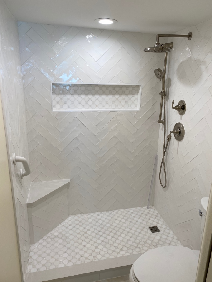 Jensen Beach, FL - All set with remodel in master bath condo. Now time for glass shower enclosure.