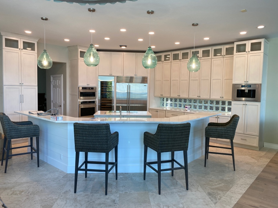 Jensen Beach, FL - Putting the finishing touches on clients new kitchen.