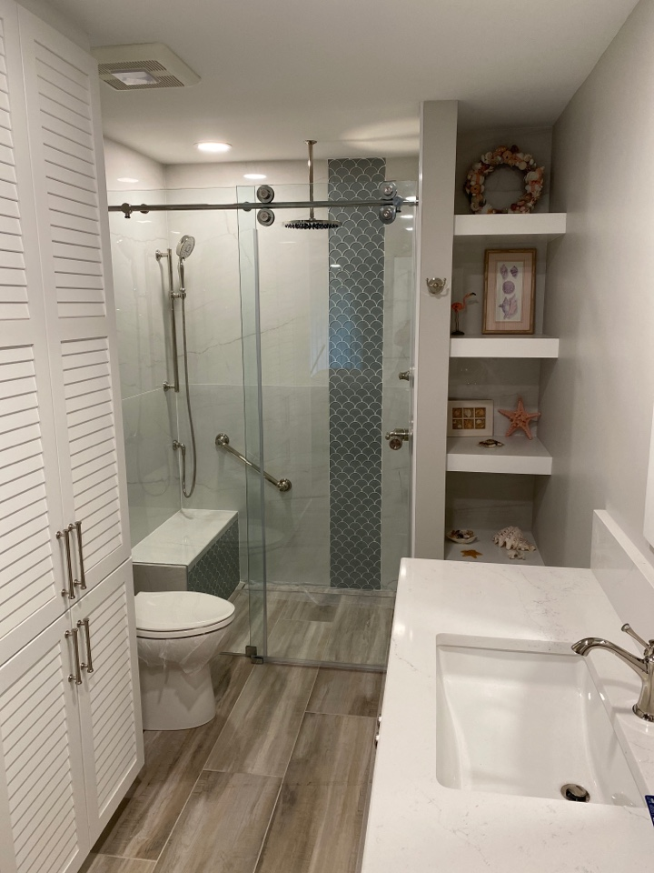 Jensen Beach, FL - Clients master bathroom completed