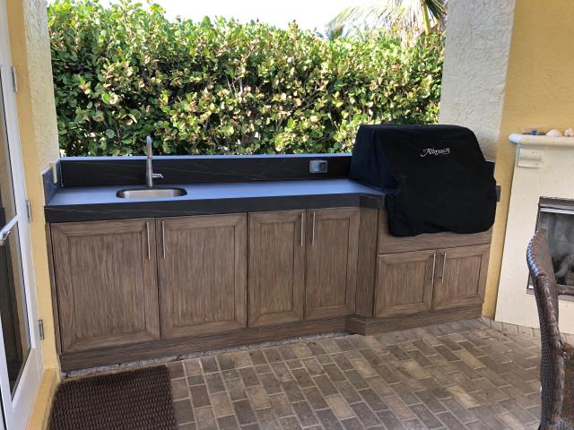 Hobe Sound, FL - Out here on Jupiter Island finishing up an outdoor BBQ area complete with NatureKast Cabinetry. All set to entertain!