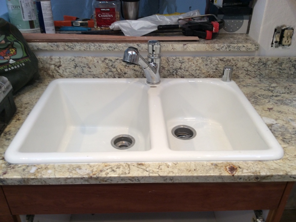 Auburn, WA - Installed a new Moen kitchen faucet.