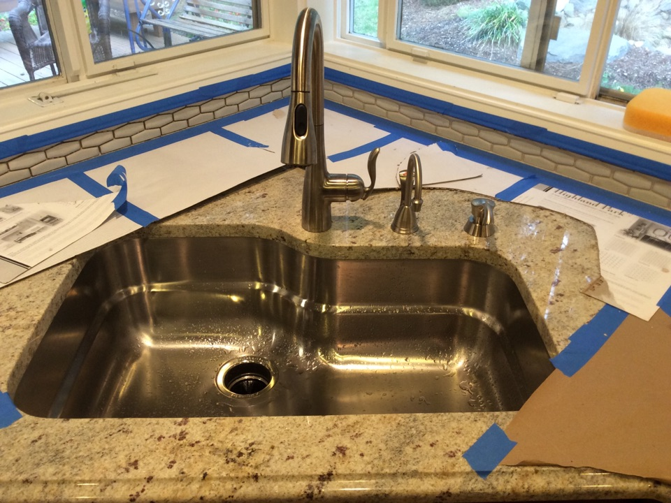Auburn, WA - Installing kitchen faucet, insta-hot-hot, and soap dispenser