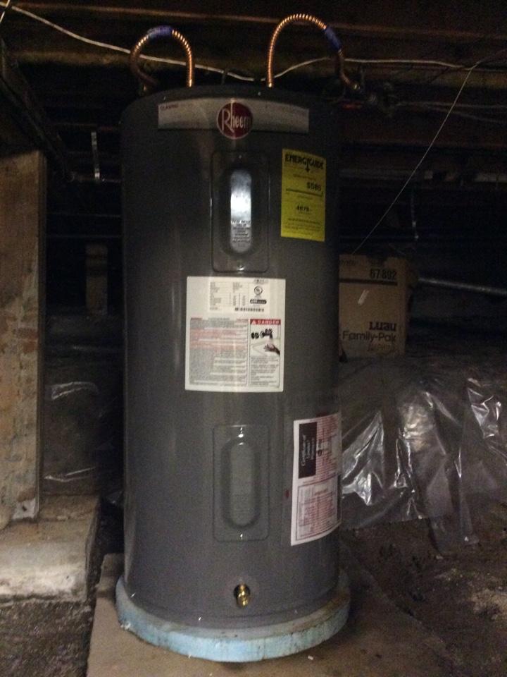 Burien, WA - Installing 50 gallon electric water heater