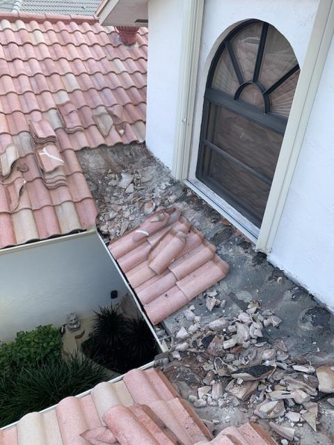 Repair Leaking Tile Roof at a home in Wellington Florida 33414