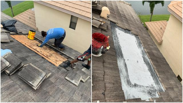 We repaired a leaking tile roof at a home in Lake Worth FL, 33449