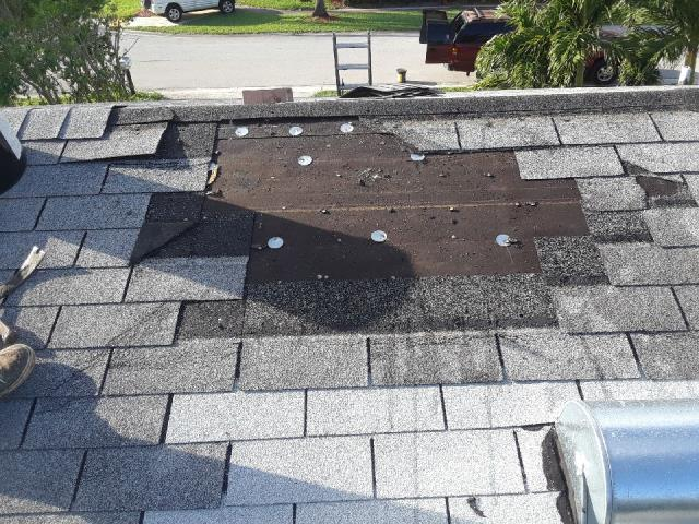 We are replacing some missing shingles on a home in Annapolis MD 21401.  A recent storm blew them off so we removed a section and replaced the underlayment and re-shingled the area.