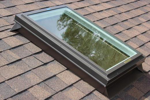We repaired a leaky skylight on a home in Ellicott City MD. We removed the shingles and re-flashed around the skylight and re installed the shingles.