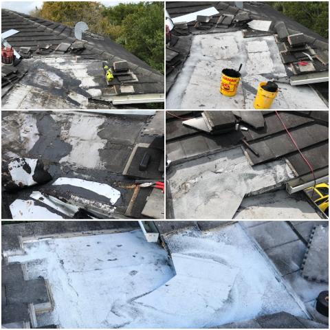 Our commercial roofers  repaired 6 leaking valleys  and 4 areas above windows on a commercial building in Palm Beach Gardens FL 33410