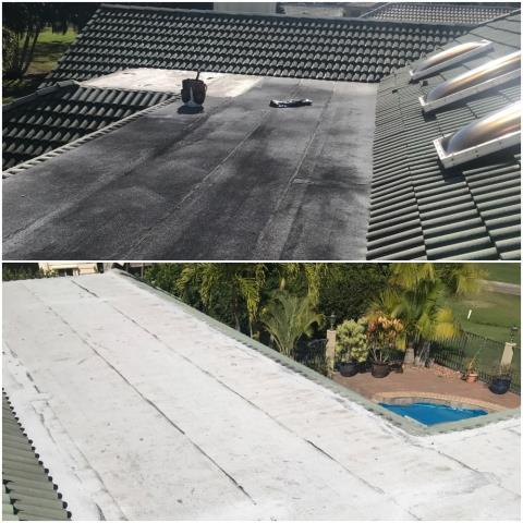 We replaced a leaking flat roof on a home in Palm Beach Gardens 33418