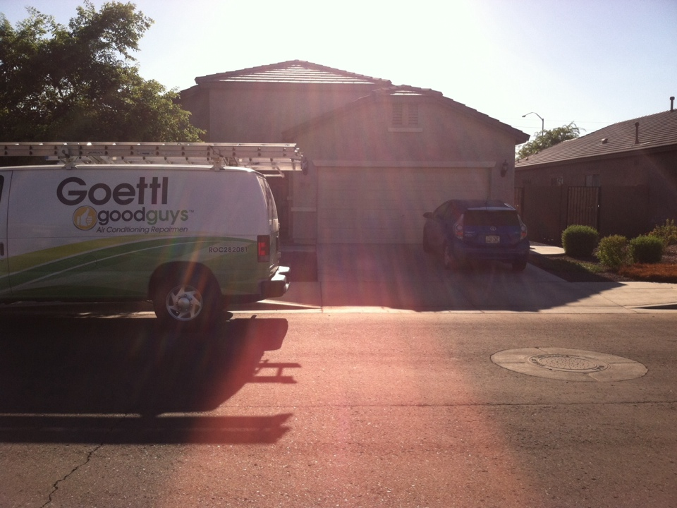 Mesa, AZ - Changing out a compressor. Goettl good guys air condition.