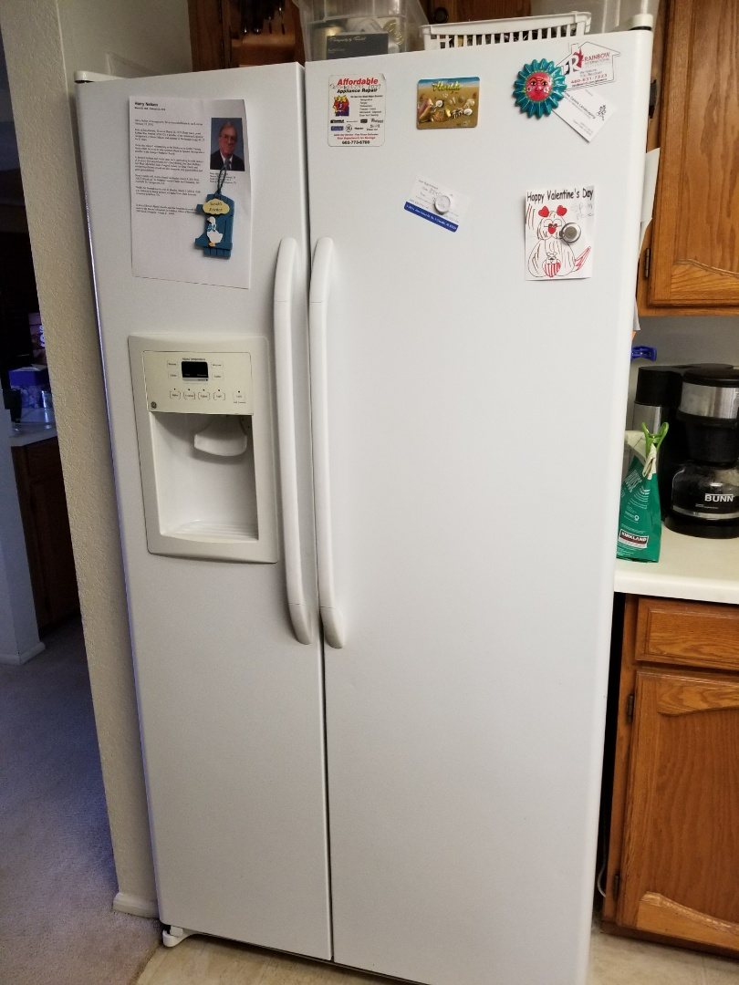 Tempe, AZ - We were in the Windmills west community in Tempe working on a GE refrigerator with broken drawers and shelving. After repairing the broken crisper drawers and shelving operation was restored. Thanks Debbie for your business