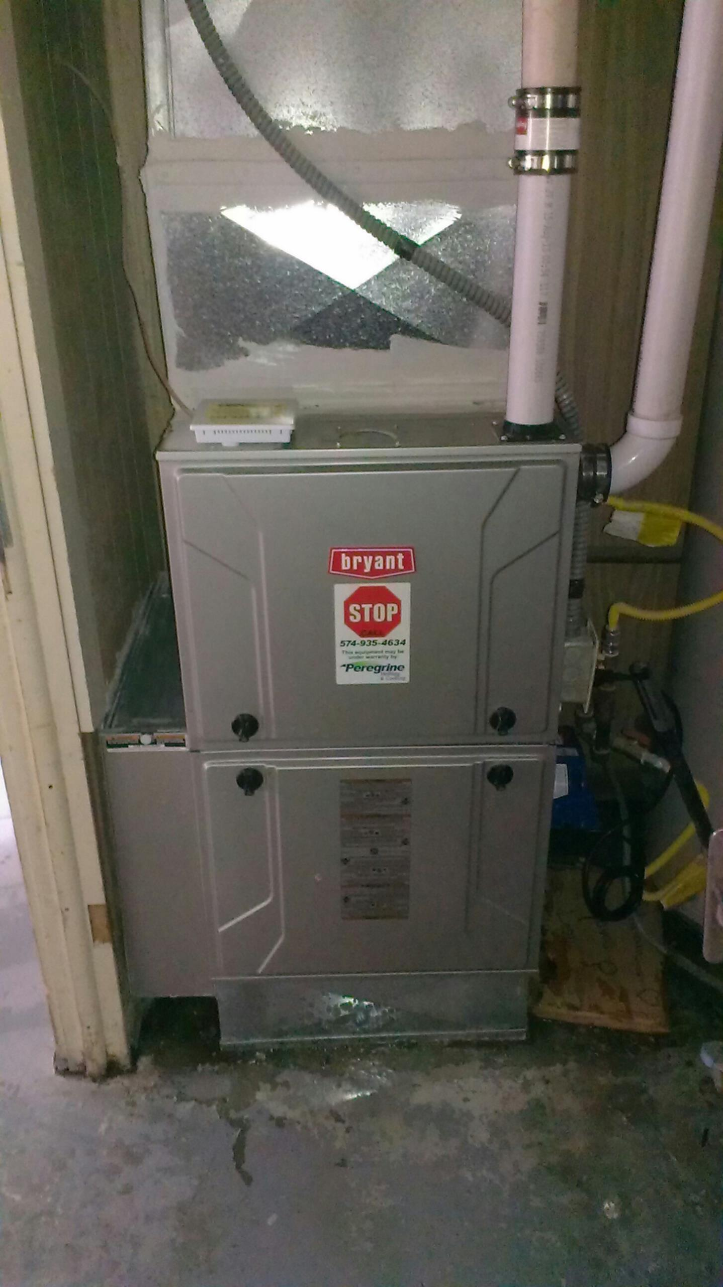Bremen, IN - Repair on Bryant furnace heating