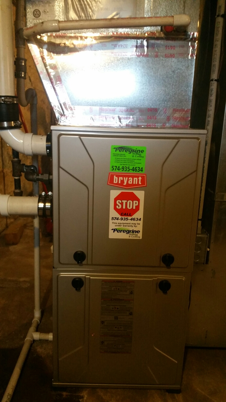 Grovertown, IN - Replace existing Armstrong Air furnace with Bryant model 915