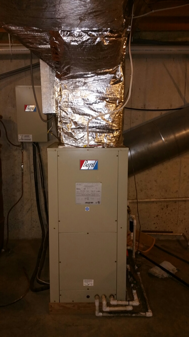 Plymouth, IN - Replace Bard geothermal with new WaterFurnace open loop geothermal system 2 Stage