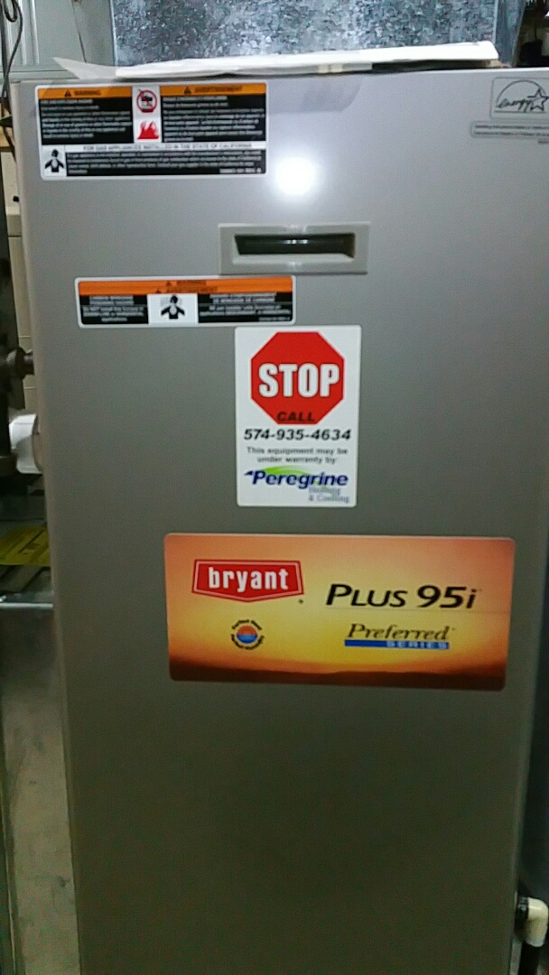 Plymouth, IN - Maintenance on a Bryant model 355 furnace