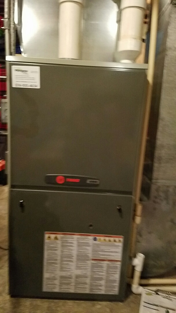 Plymouth, IN - Maintenance on a Trane furnace