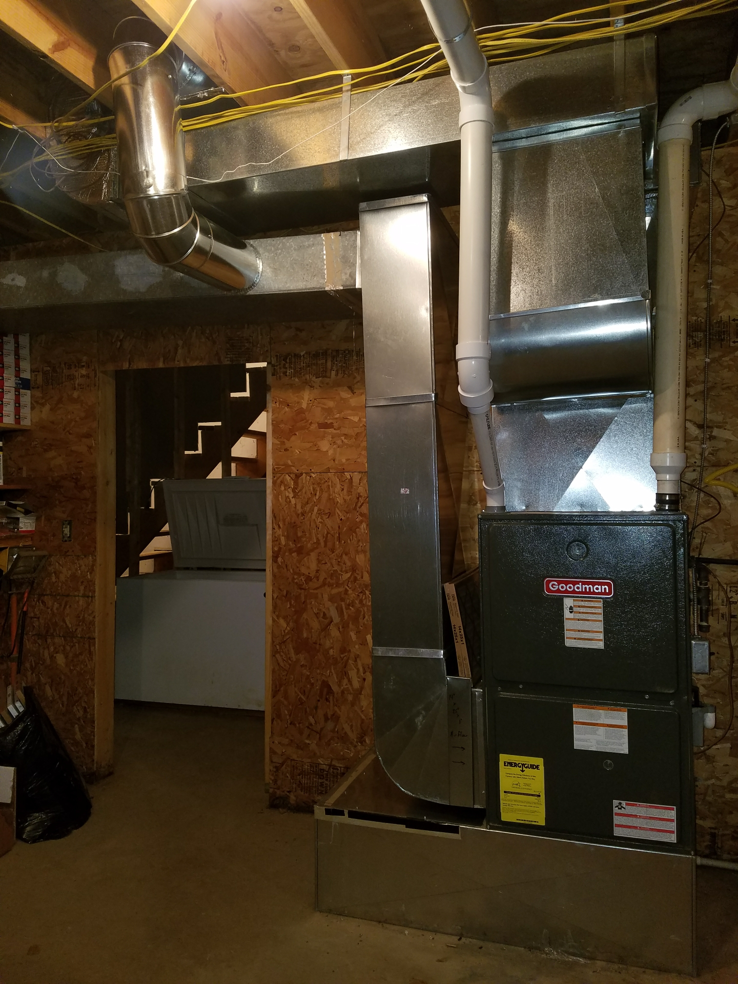 North Manchester, IN - Add air conditioning to existing furnace in fix ductwork for better airflow
