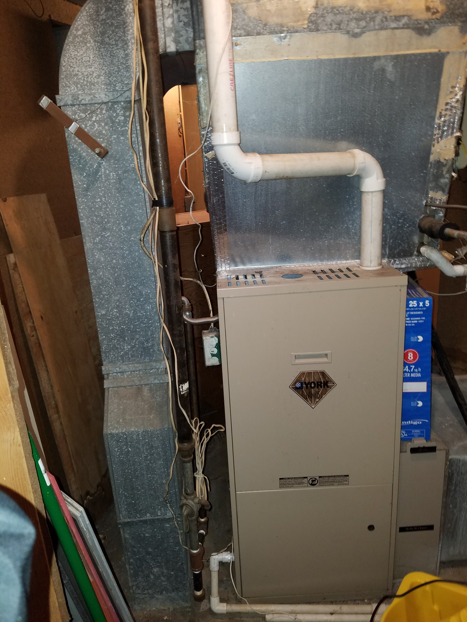 Wabash, IN - Replace York furnace and air conditioner with new high-efficiency Bryant furnace and air conditioner