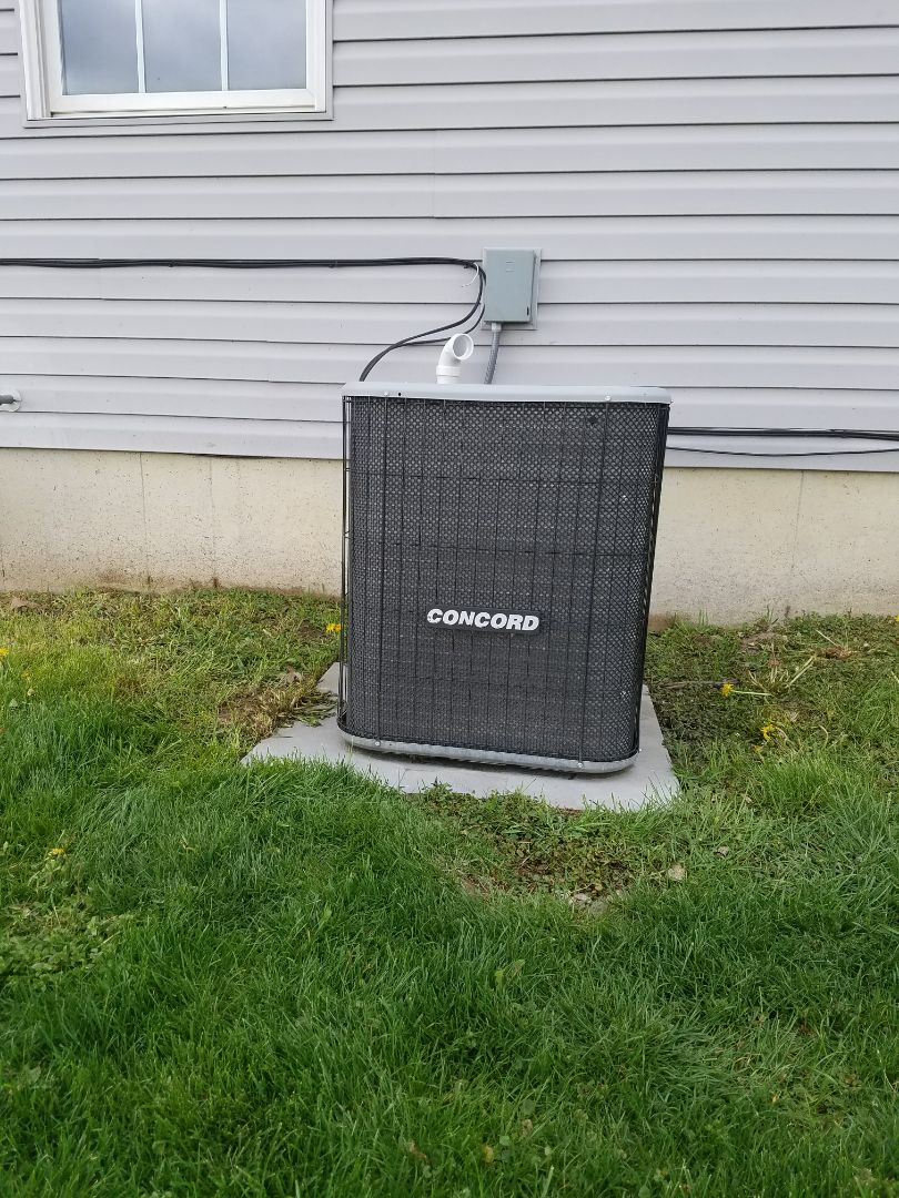 Plymouth, IN - Maintenance on a Concord air conditioner