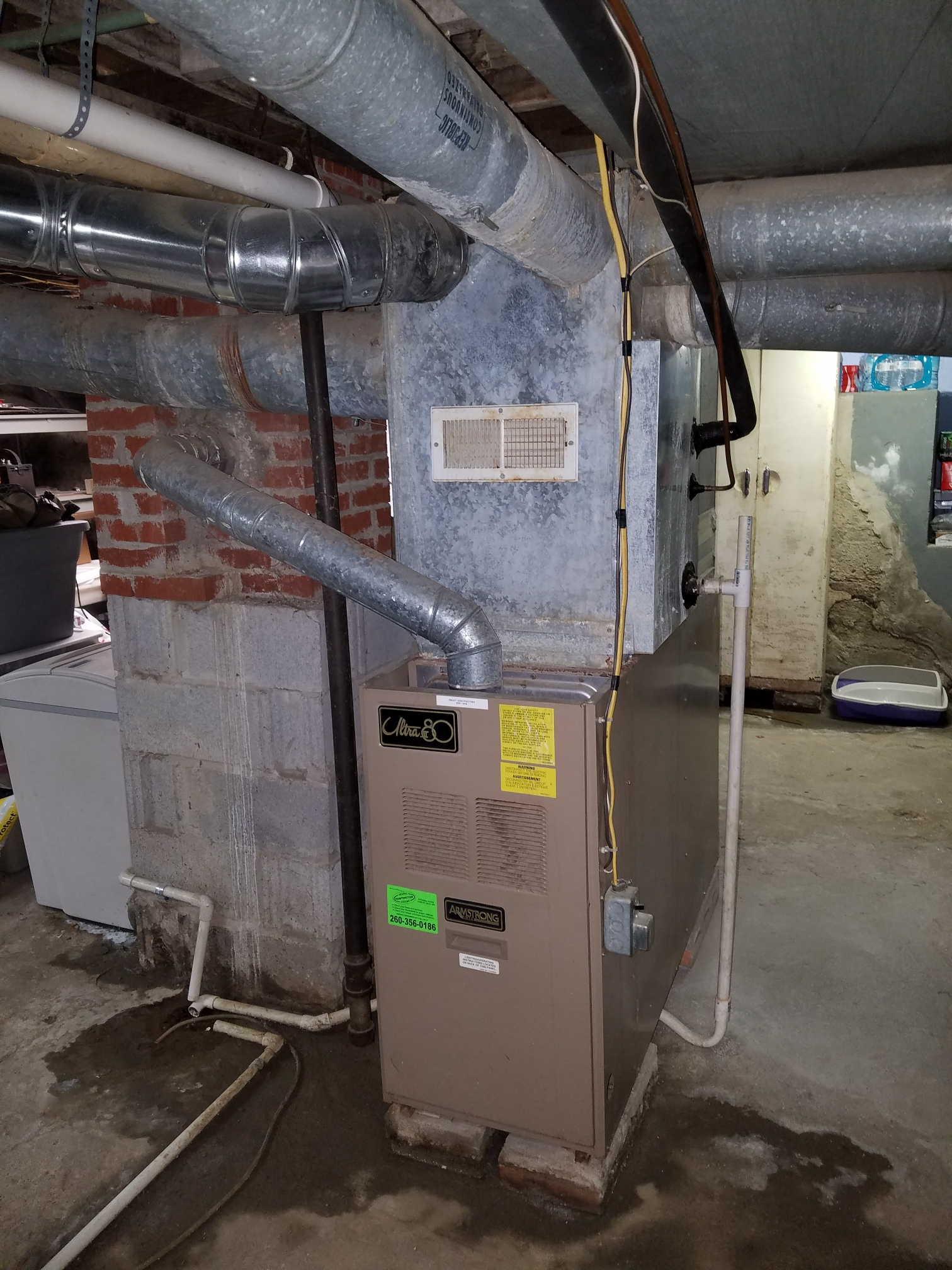 Huntington, IN - Replace Armstrong furnace and air conditioner with new Bryant Evolution variable capacity furnace and air conditioner