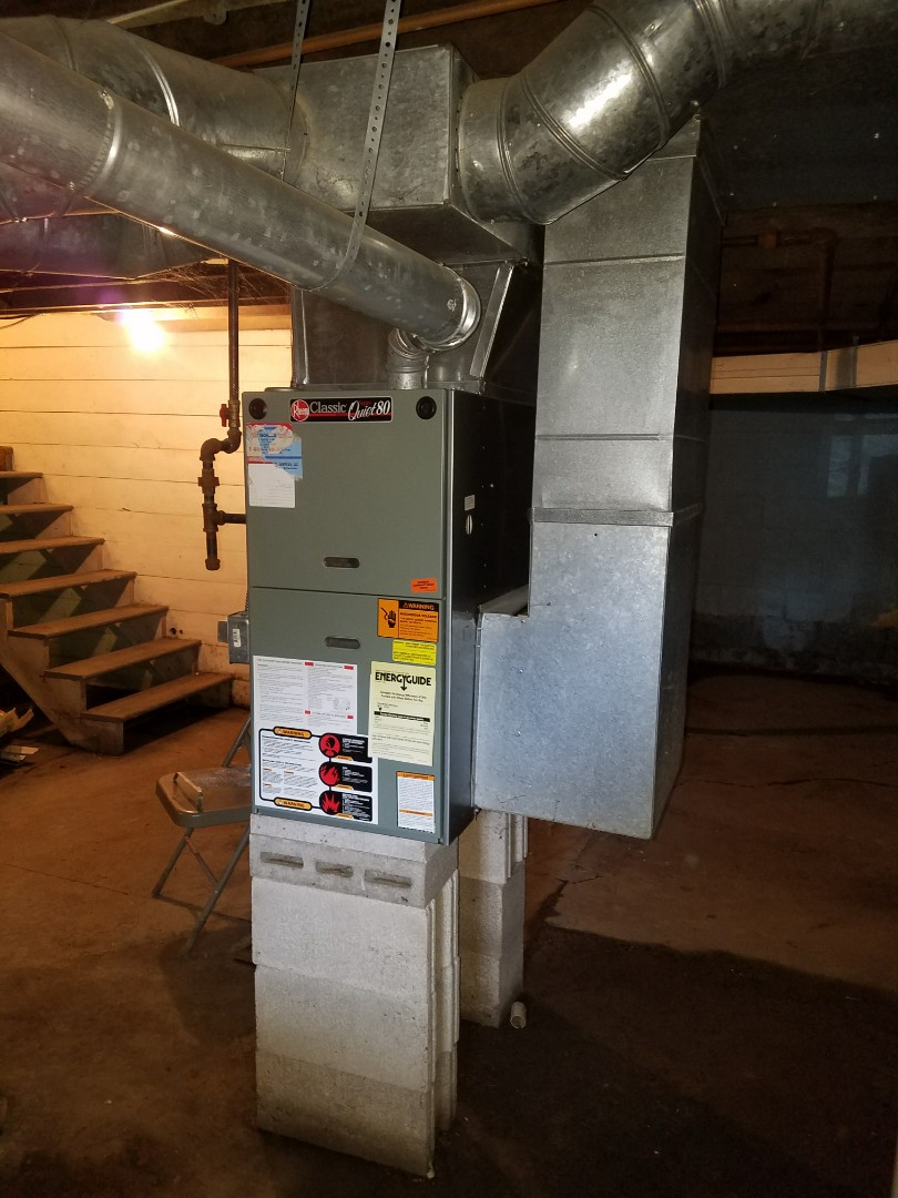 Huntington, IN - Install air conditioner for older home plus add return ductwork for the upstairs