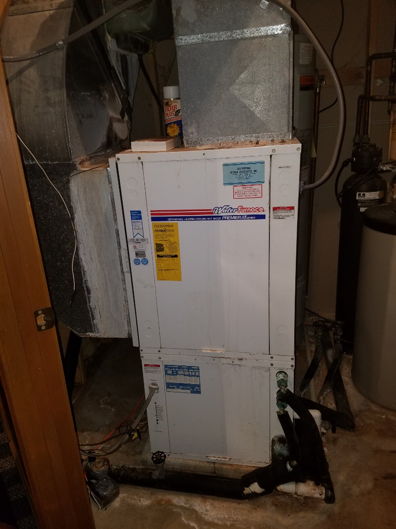 Columbia City, IN - Replace 24 year old water furnace geothermal system with new series 5 two stage water furnace geothermal system