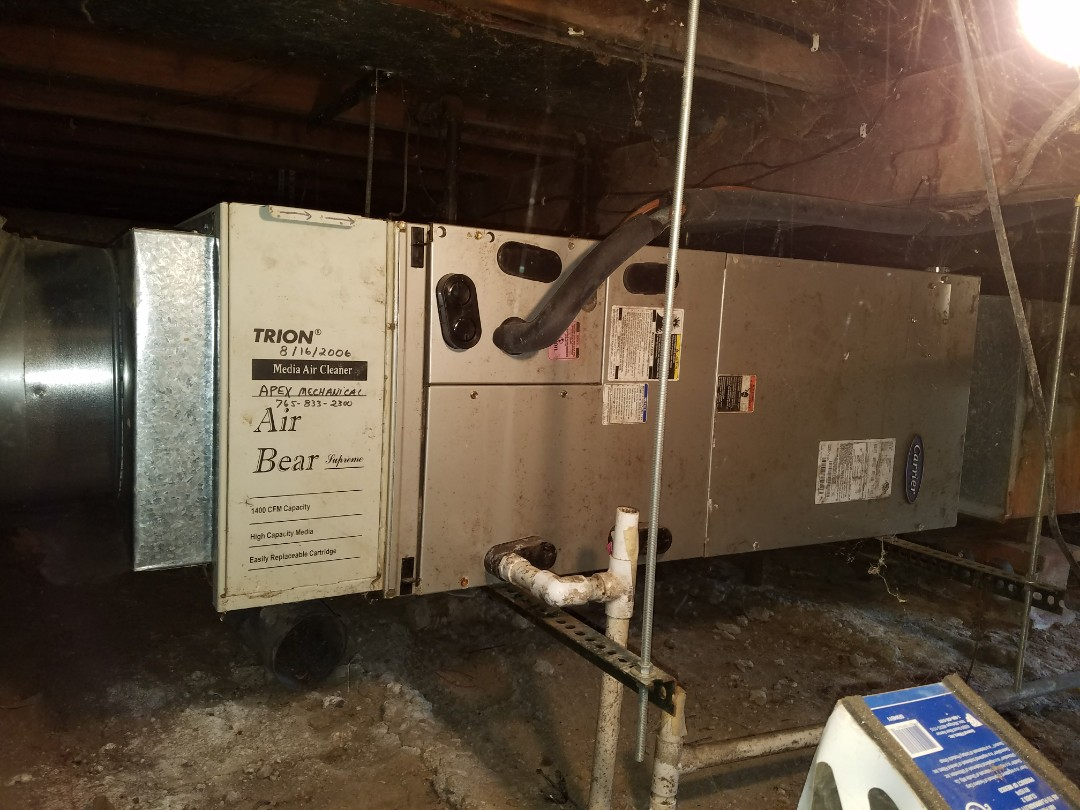 Wabash, IN - Replace Carrier heat pump with high efficiency Brant variable capacity furnace and air conditioner