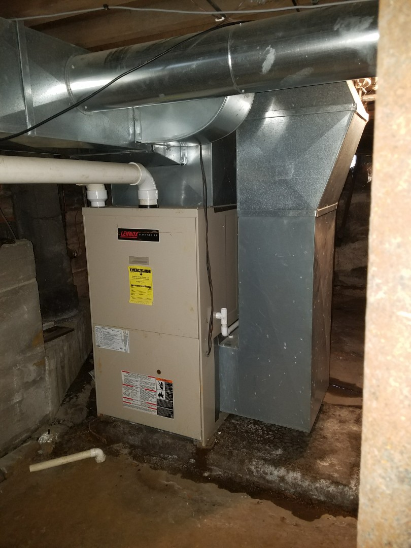 Huntington, IN - Add central air to existing forced air gas furnace add return air to the upstairs for better air distribution and comfort