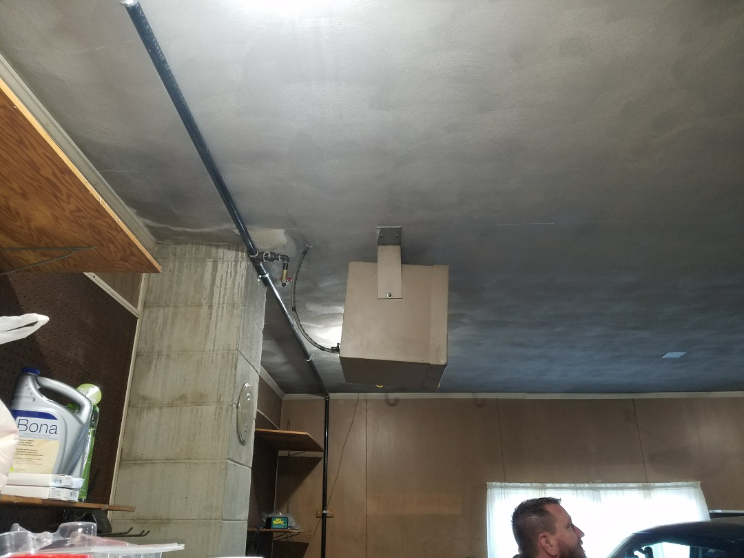 North Manchester, IN - Install new high-efficiency gas garage heater and a ductless air conditioner for Class C motorhome
