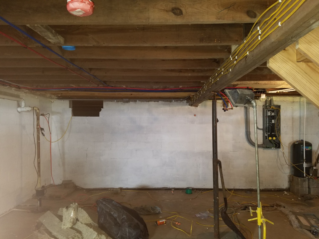 Warren, IN - Install new duct work for fully remodeled home move furnace and air conditioner location