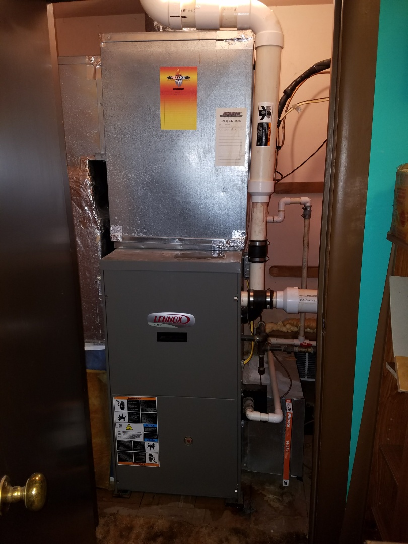 Huntington, IN - Replace existing Lennox furnace and janitrol air conditioner and install new Bryant Evolution variable capacity furnace and air conditioner