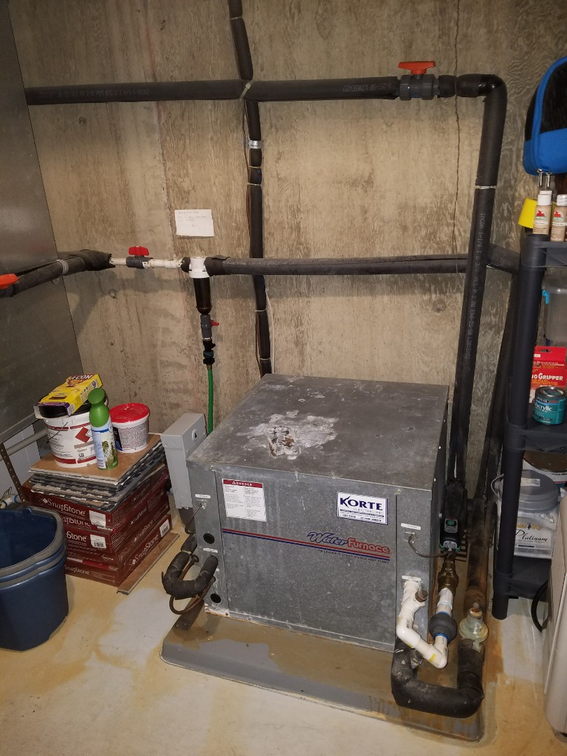 Huntington, IN - Replace water furnace 23 year old split system with new high-efficiency water furnace open loop system