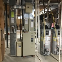 Westerville, OH - gave homeowner FREE ESTIMATE for a  Carrier 96% Multi-Speed 100,000 BTU Gas Furnace and a  Carrier Air Conditioner 16 SEER 4 Ton