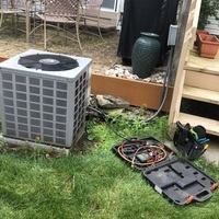 Blacklick, OH - Rheem ac unit, did refrigerant recovery and cleaned outdoor unit