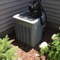 Hilliard, OH - Recharged TRANE AC System with 1.5 lbs of R-22 Freon and added Easy Seal. Cleaned off the outdoor condenser coil with Eco-friendly cleaner and replaced furnace filter with customer's own.