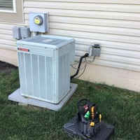 Canal Winchester, OH - Minor repairs performed on TRANE A/C. Dual Capacitor and contactor pole coil replaced on outdoor unit.