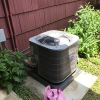 Reynoldsburg, OH - Carrier A/C refrigerant lines brazed and leak repaired.