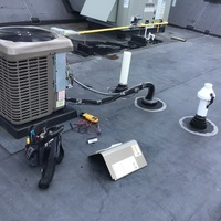 Whitehall, OH - York Air Conditioner recharged with 2 lbs of R-410A Puron. Minor rewiring on capacitor and compressor and system is cooling at this time.