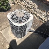 Grove City, OH - Dual Capacitor replaced on central air system. Free estimate provided to replace furnace and A/C with a Carrier system.