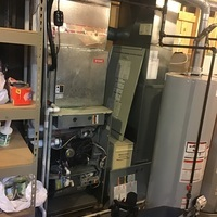 Hilliard, OH - Upon inspecting a 2010 Carrier cooling system, within the furnace found blower wheel destroyed, motor burnt up, and possible damage to the secondary heat exchanger. Repair options vs replacement and pricing given to customer.