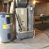 Groveport, OH - Free quote provided to replace an ICP Furnace and Carrier A/C with a Carrier 95% Efficiency Gas Furnace and 13 SEER Air Conditioner. Included a Honeywell T6 Pro Thermostat and offered zero interest financing.