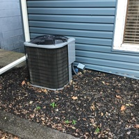 Reynoldsburg, OH - 2014 ICP Central Air Unit confirmed to have a clean filter but bad capacitor. Re-mounted the disconnect for A/C and replaced the Dual Capacitor. Cycled system on and confirmed the system is cooling properly at this time.