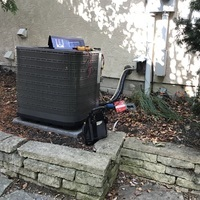 Dublin, OH - Nordyne A/C System recharged with 5.5 lbs of R-410A Puron. Replaced the disconnect 60 amp and cleaned off the outdoor condenser coil with an eco-friendly cleaner. A/C System is now cooling as expected.