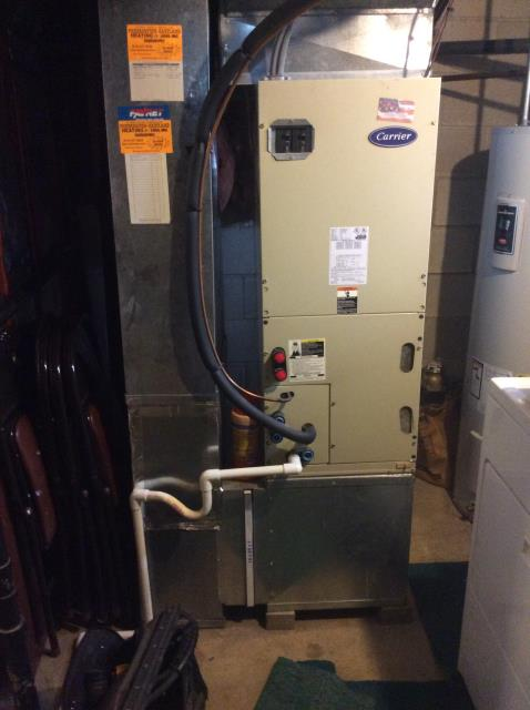 Reynoldsburg, OH - Performed a complete tuneup and safety inspection on a Carrier furnace to ensure efficient operation for the winter season.