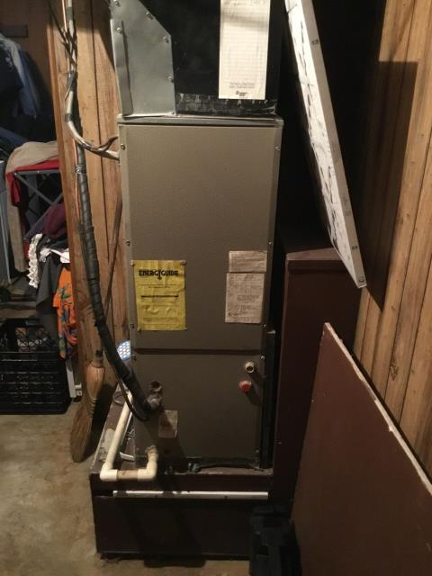 Pataskala, OH - Customer wanted an estimate to replace Trane furnace. They went with a new installation of a Carrier furnace. Pictured below is the Trane furnace that was replaced.