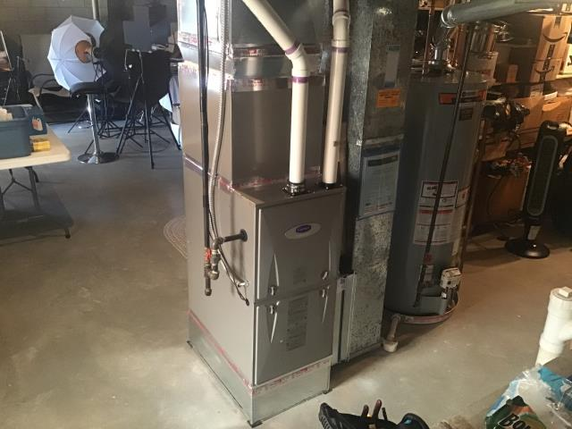 Pickerington, OH -      Diagnosed Carrier furnace with thermostat that keeps flashing to replace filter. The thermostat filter indicator, (airflow resistance) alert was on. Found dirty filter, one week old filter, can't see light through the filter much at all. Replaced filter, all good at this time.