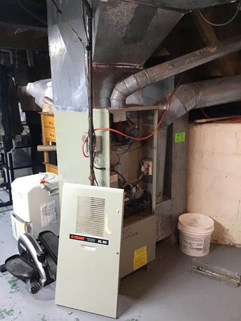 Grove City, OH - Diagnostic Service Call for Trane furnace not reaching desired Temperature, Tech changed out dirty filter and installed new T-Stat.