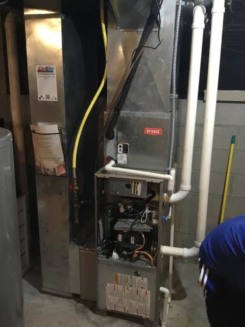 Blacklick, OH - 	I preformed our Seasonal maintenance on a Bryant furnace. All checks are good and the system is ready for winter.