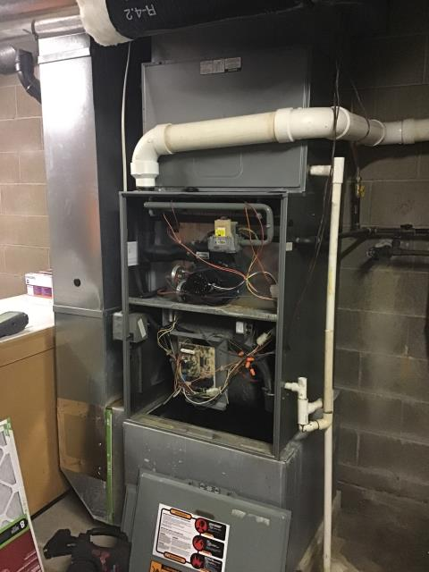 Westerville, OH - Performed Our Special Tune-Up & Safety Checkout Rheem Gas Furnace To Keep Furnace Running At Highest Performance For The Winter Season